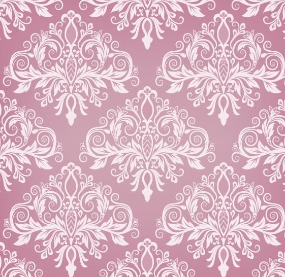 Pink Vintage Floral Pattern Background 02Vintage Flower Patterns