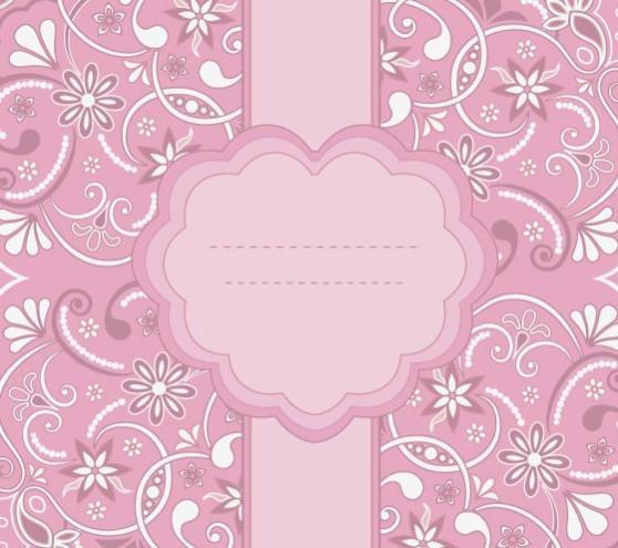 Free Pink Vintage Floral Pattern Background 03 Titanui