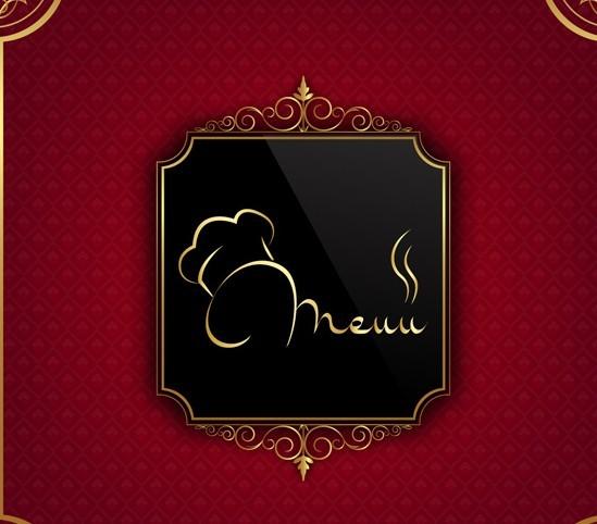 Free classical restaurant menu cover design vector
