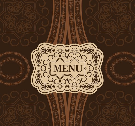 Free classical restaurant menu cover design vector