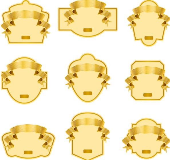 Free Golden Blank Badge u0026 Label Design Templates 01 - TitanUI