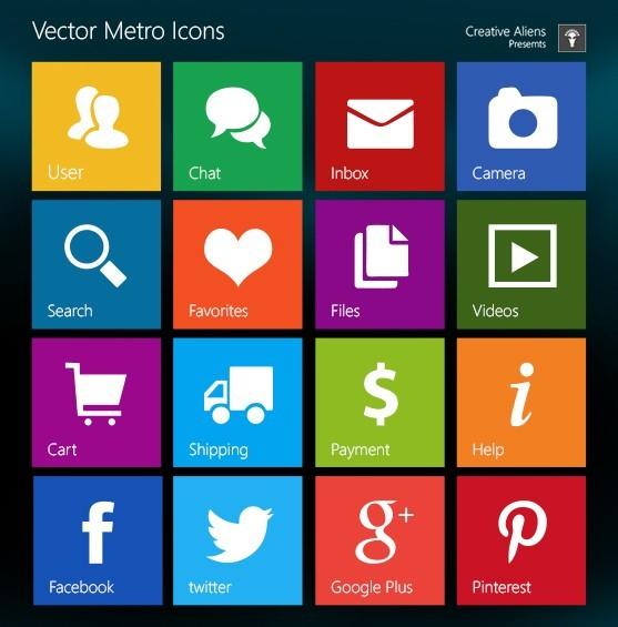 Windows 8 Vector Icon Windows 8 metro style psdWindows 8 Vector Icon