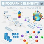 Clean Vector Infographic and Data Visualization Design Elements 05
