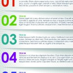 Vector Colorful Paper Banners with Numbers 05