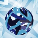 3D Blue Globe Background Design Vector 04