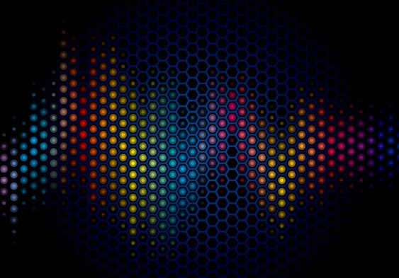 Free Dark Blue Abstract Polka Dot Background Vector 02 ...
