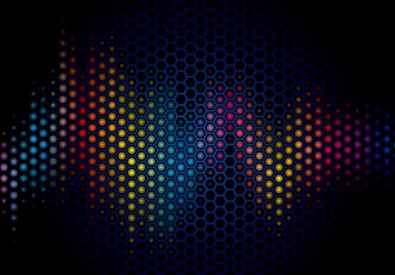 Free Dark Blue Abstract Polka Dot Background Vector 02