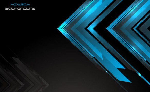 Free Dark Blue HI-TECH Abstract Background Vector 01 - TitanUI