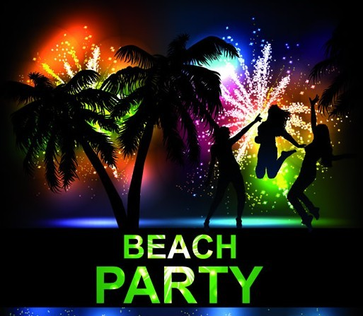 Free Fashion Beach & Night Party Background Vector 02 ...