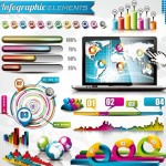 Vector Colorful Infographic Elements Collection 03
