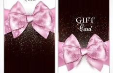 Vector Fantastic Gift Cards with Ribbon Bows 01