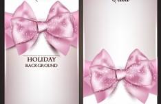 Vector Fantastic Gift Cards with Ribbon Bows 03