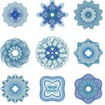 Set Of Vector Guilloche Rosettes Quality Decorative Elements 02