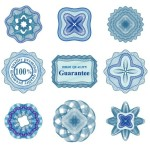 Set Of Vector Guilloche Rosettes Quality Decorative Elements 03
