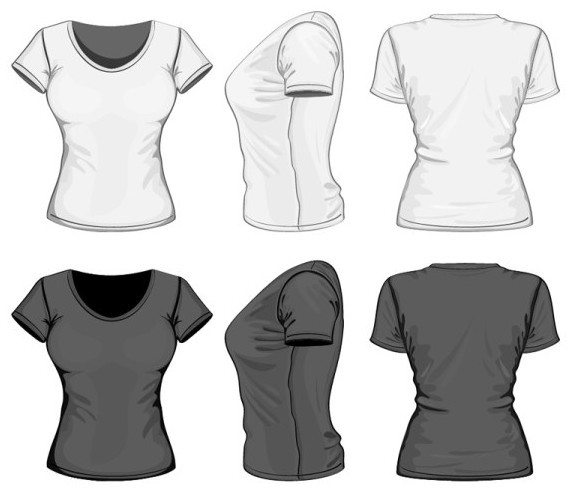 Free Dark and White Women T-Shirt Vector Mockup - TitanUI