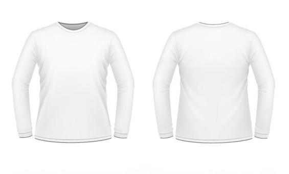 free white men long sleeve shirt vector mockup titanui. Black Bedroom Furniture Sets. Home Design Ideas