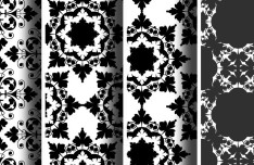 4 Black and White Vector Ornament Patterns