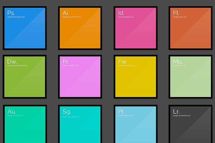 Free Flat Adobe CS6 Splash Screens PSD - TitanUI