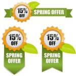 Vector Fresh Spring Offer Labels 01