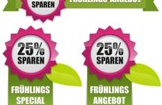 Vector Fresh Spring Offer Labels 02