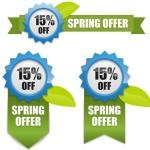 Vector Fresh Spring Offer Labels 03
