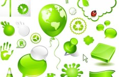 Green ECO Concept Vector Design Elements