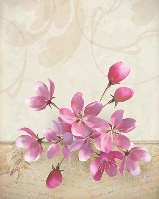 Elegant Pink Flowers w...