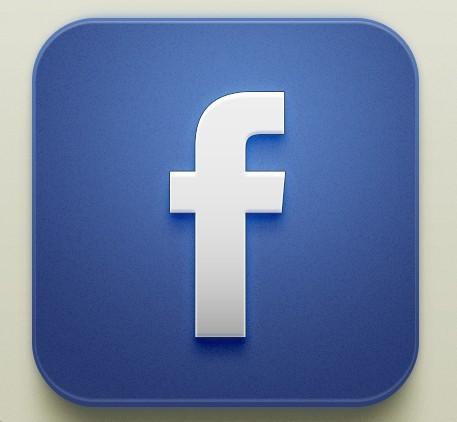 Free Beautiful Facebook IOS Icon PSD