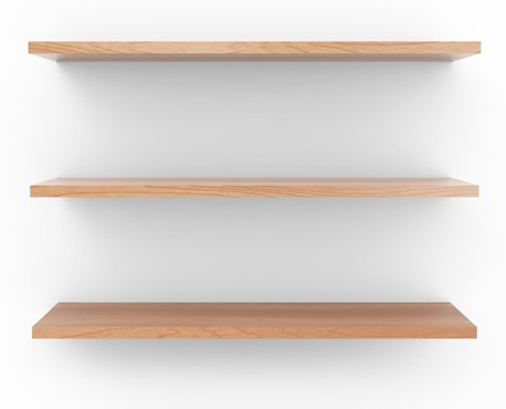 Free Empty Wooden Shelf Background PSD - TitanUI