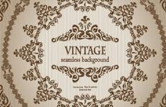 Seamless Vintage Floral Pattern Background Vector 01