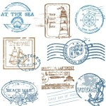 Vector Travel Postmark Seals