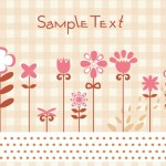 Hand Painted Flowers and Birds Vector Illustration 03