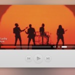 Sleek Music Player Interface PSD