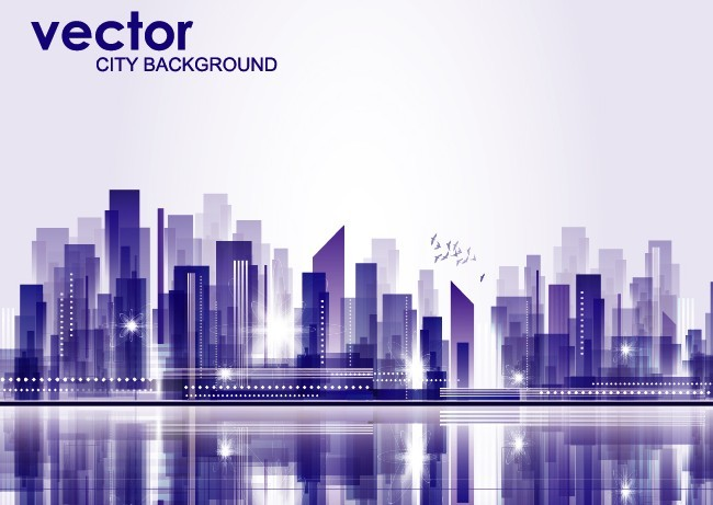 Free Abstract Modern City Background Vector 03 - TitanUI