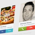 Skype Call & Facebook Twitter Share Interface PSD