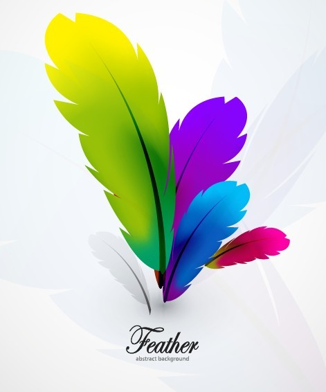 Free Vector Colorful Abstract Feathers Background 02 - TitanUI