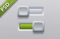Sleek Switch Buttons with White Sliders PSD