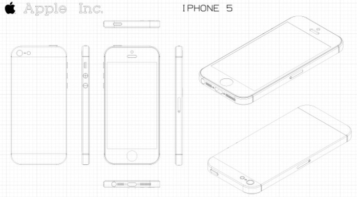 Free vector iphone 5 mockup ai titanui for Iphone 5 sticker template