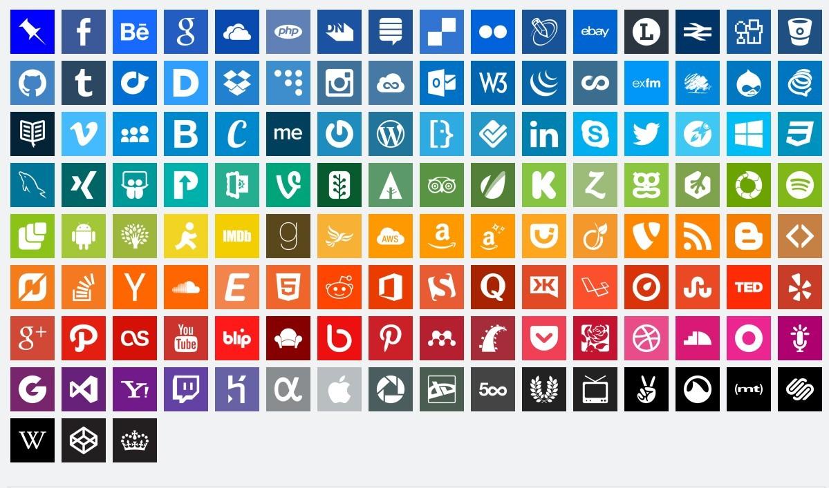 free simple flat design social icons titanui