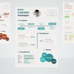 Colorful Flat Style Infographic PSD Elements