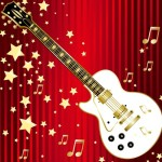 Fashion Music And Guitar Background 01