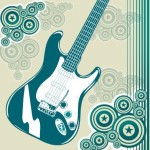 Fashion Music And Guitar Background 02