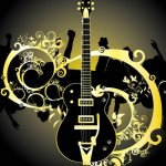 Fashion Music And Guitar Background 04