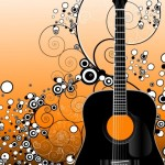 Fashion Music And Guitar Background 06
