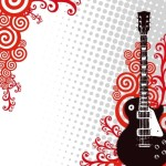 Fashion Music And Guitar Background 07