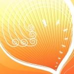 Vintage Floral Swirls Background Vector 02
