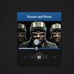Dark Audio Player Widget PSD