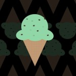 Flat Ice Cream Icon PSD