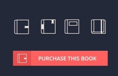 4 Minimal Book Icons PSD