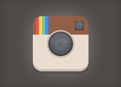 Free Flat Instagram Icon PSD - TitanUI  Free Flat Insta...